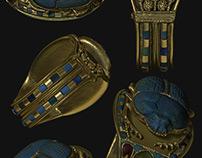 Egyptian Jewels - C4D & ZBrush