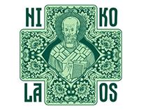 Saint Nicholas in Russian style