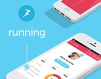 Running app - timeline dashboard