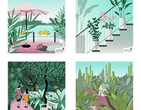 "Freie Illustrationen ""Urban Jungle"""