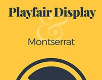 Playfair Display & Montserrat font pairing