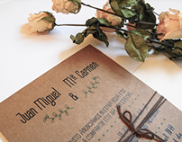 Invitaciones de boda kraft // kraft wedding invitations