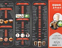 Modern Design Arabic Menu for a Restaurant
