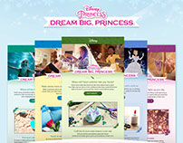 Disney: Dream Big, Princess (Email Design)