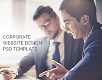 Corporate Website Design PSD Template(Freebie)