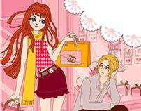 Illustration for Novel book cover.
