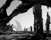 Lost ancient civilization — concept art
