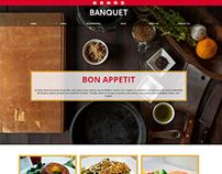 Banquet Restaurant Cafe Website Concept