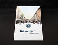 Würzburger Straßennamen Buchgestaltung