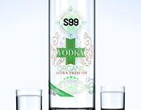Création étiquette Vodka - graphisme Loolye labat