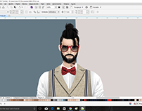 Hipster's catwalk. Ilust. Corel Draw 2017
