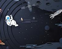 Gravity in Space. illustration
