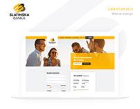 Slatina bank - website redesign/case study