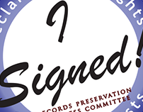 """I Signed!"" sticker"