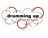 drumming up; feel the rhythm exhibition design
