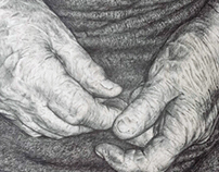 Elements. Grandmother's hands