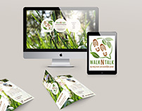 walkNtalk - Identity branding | Logo, brochure, website