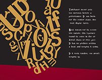 Tailchaser: Typeface and Poster
