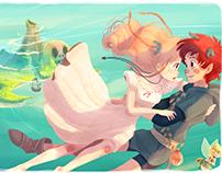 Flying to Neverland - Illustration