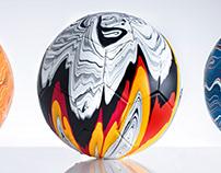 The Fusion Series   Football Art Installation
