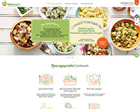 Landing page for delivery healthy food