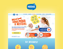 Promotional branding and website design for Nestle Baby