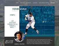 Athlete Profile - Mockup