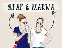 Illustration des blogueuses Afaf & Marwa