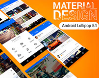 Material UI Android Lollipop V5.1.1