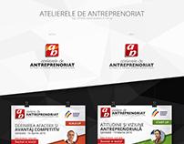 Atelierele de Antreprenoriat - Logo / Roll-Up / Agenda