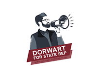 Dorwart For State Rep logo & print collateral