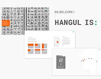 Hangul is:
