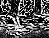 """""""BACK"""" Exploración de Texturas-Ilustración"""