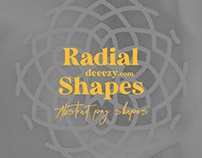 Free Abstract Radial Shapes