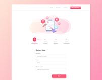 Web Form Pages Design for Teaching Platform