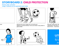 Storyboards for UNICEF