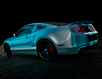 Shelby GT500 - 3D Model - Studio Renders