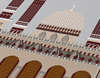 Al Saleh Mosque Flat Drawing