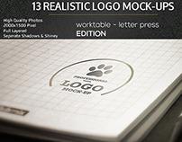Realistic Logo Mock-Ups / Worktable