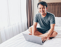 Stock Photo Work From Home Asian Man
