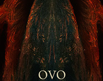 posters about Ovo and other amazing bands