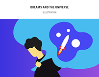 Dreams and the universe - Illustration