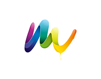 M logo design template