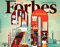 Illustration for Forbes Magazine, Centroamerica
