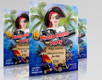 Pirate Island Party Flyer Template