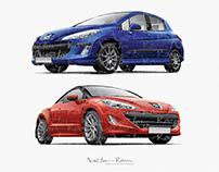 Vector Peugeot 308 and Peugeot RCZ