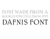 Dafnis font