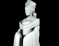 Empress of Hearts - 3D modeling (work in progress)