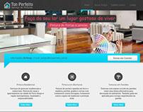 Site para a empresa de Pintura Ton Perfeito.