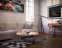 Another Loft living room render